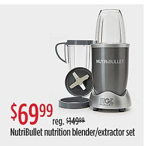 OFERTAS ESPECIALES | Oferta de $69.99 Precio reg. $119.99 Juego de extractor/licuadora NutriBullet Nutrition de 8 piezas
