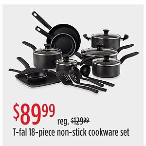 OFERTAS ESPECIALES | Oferta de $89.99 Precio reg. $129.99 - Juego de 18 utensilios de cocina antiadherentes T-fal