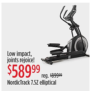 RED TAG EVENT | Low impact joints rejoice! $589.99 reg $899.99 NordicTrack 7.5Z Elliptical