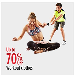 RED TAG EVENT | Up to 70% off workout clothes