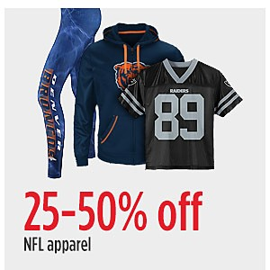 25-50% off NFL apparel
