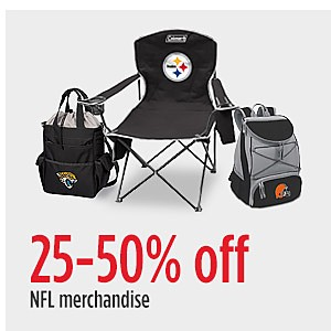 25-50% off NFL merchandise