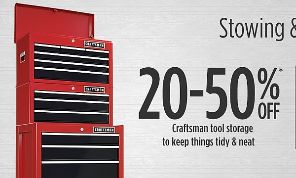 Stowing & Blowing | 20-50% off Craftsman tool storage to keep things tidy & neat | $579.99 reg. $799.99 Craftsman 24-in 179cc dual-stage gas snowblower