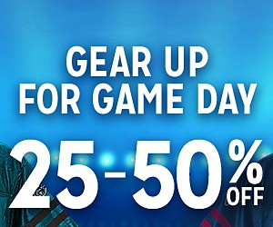 Gear up for game day | 25-50% OFF | shop now