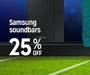 Gear up for game day | 25-50% OFF | Samsung soundbars 25% OFF
