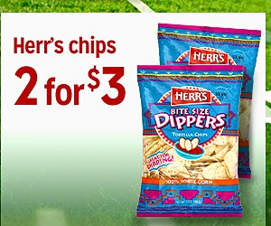 Herr's chipss 2 for $3