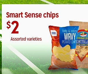 Smart Sense chips, $2 Assorted varieties