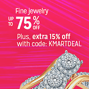 Fine jewelry up to 75% off | Plus, extra 15% off with code: KMARTDEAL