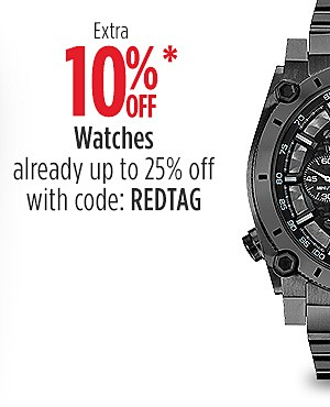 Extra 10% Off Watches (Already Up to 25% Off) with code: REDTAG
