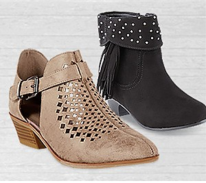 Up to 60% off women's & kids' fashion boots | Plus, get an extra 15% off family footwear with code: REDTAG