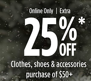 Online Only! Extra 25% off $50+ Clothing, Shoes, and Accessories | Extra 15% off up to $49.99 with code REDTAG