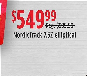 NordicTrack E 9.5i Elliptical reg $1,299.99 sale $799.99