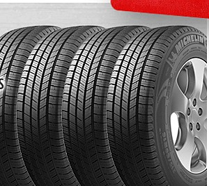 FREE installation by rebate from Sears  on 4 Michelin or Goodyear tires