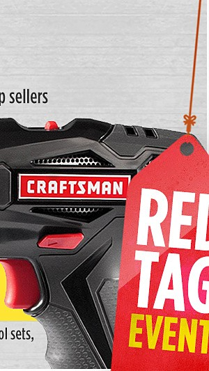 Up to 50% Off Tools- featuring our Craftsman top sellers
