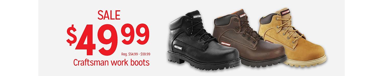 Sale $49.99 Men's Craftsman Work Boots