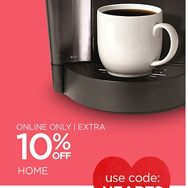 Online Only! Extra 10% off with code HEARTS