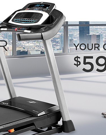 Your Choice - Save $300 sale price $599.99 Nordic Track T 6.7 S Treadmill or NordicTrack 7.5Z Elliptical