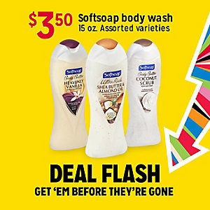DEAL FLASH | $3.50 Softsoap body wash | GET 'EM BEFRORE THEY'RE GONE