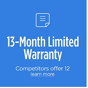 13-Month Limited Warranty
