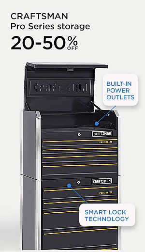 Craftsman Pro Series storage 20-50% off