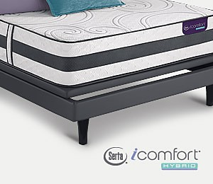 Free box spring When you buy a select Serta iComfort hybrid or memory foam mattress