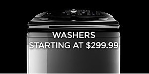 Washers starting at $299.99
