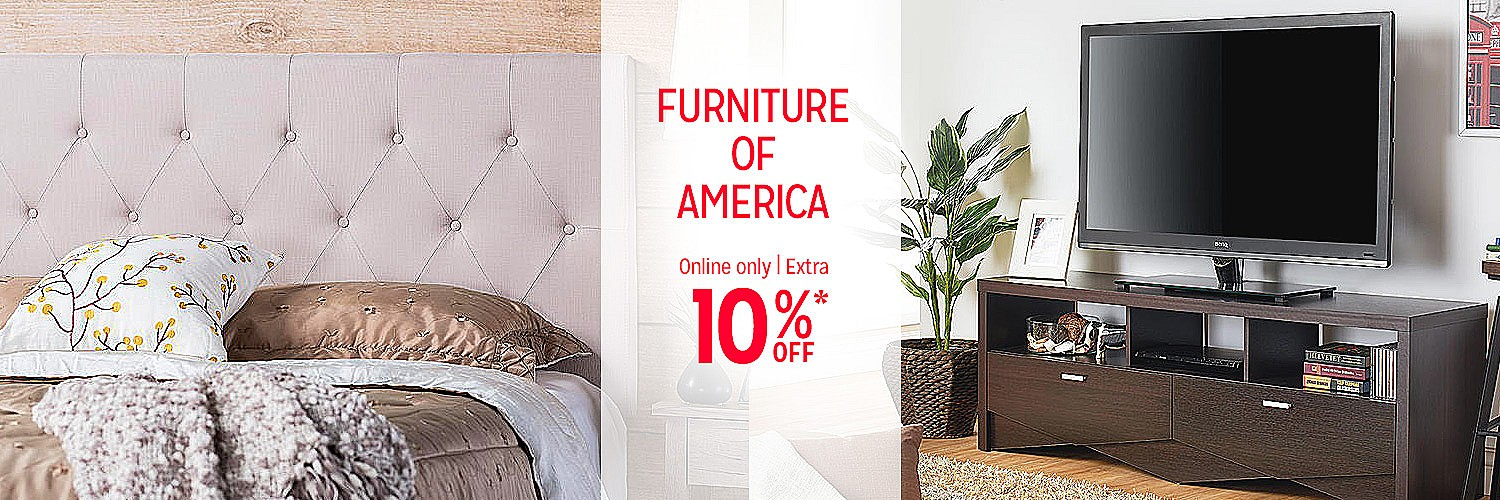 Extra 10% off Furniture of America | Online only