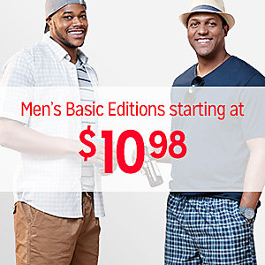 Men's Basic Editions, starting at $10.98