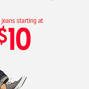 Kid's jeans, starting at $10