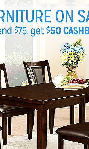 Furniture on sale | Spend $75, get $50 CASHBACK in points