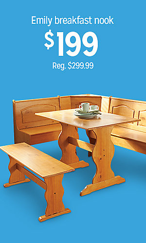Emily breakfast nook, $199 | Reg. $299.99