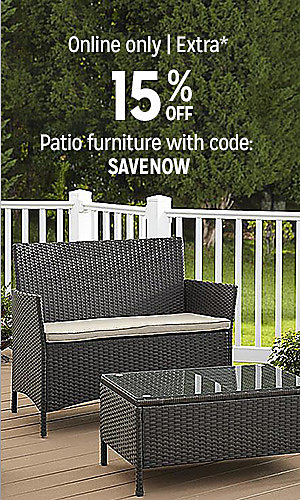 Online Only | Extra 15% off patio furniture with code