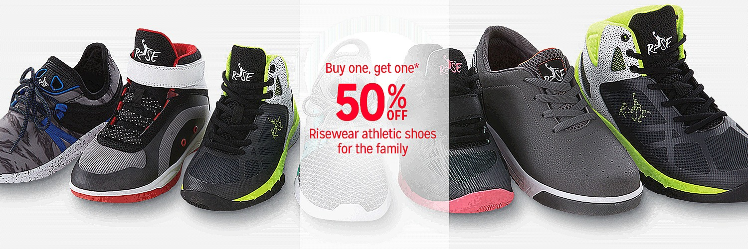 Buy one, get one 50% off Risewear athletic shoes for the family