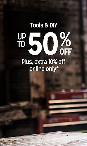 Tools & DIY up to 50% off | Plus, extra 10% off online only