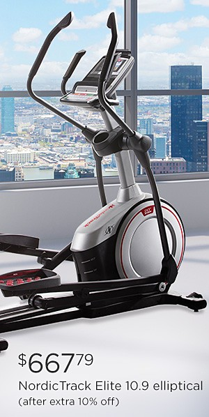 $741.99 NordicTrack Elite 10.9 Elliptical