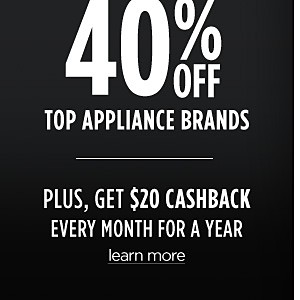 Up to 40% off Top Appliance Brands