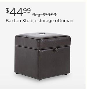 $44.99 Baxton Studio storage ottoman | reg. $79.99