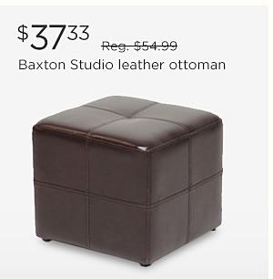 $37.33 Baxton Studio leather ottoman | reg. $54.99