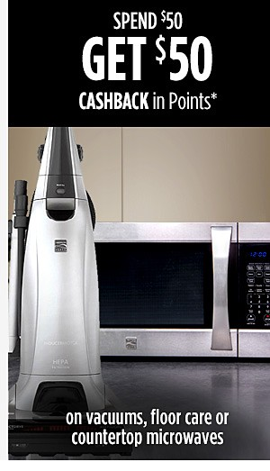 Spend $50 Get $50 CASHBACK in Points on Vacuums & Floor Care