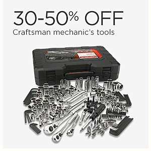 30-50% off Craftsman Mechanic's tools