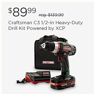 $89.99 Craftsman C3 1/2-In Heavy-Duty Drill Kit Powered by XCP