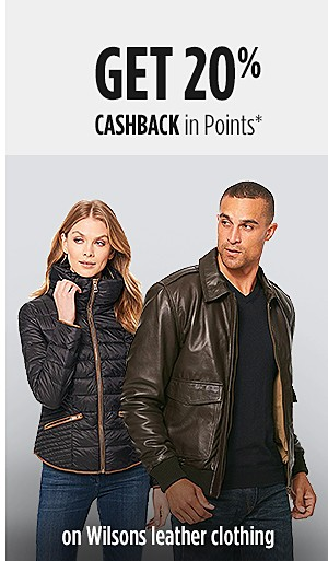 Get 20% CASHBACK in Points on Wilsons Leather clothing
