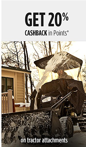 Get 20% CASHBACK in Points on tractor attachments