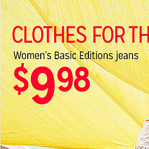 Women's Basic Editions Jeans   $9.98