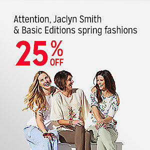 Attention, Jaclyn Smith & Basic Editions spring fashions, 25% off