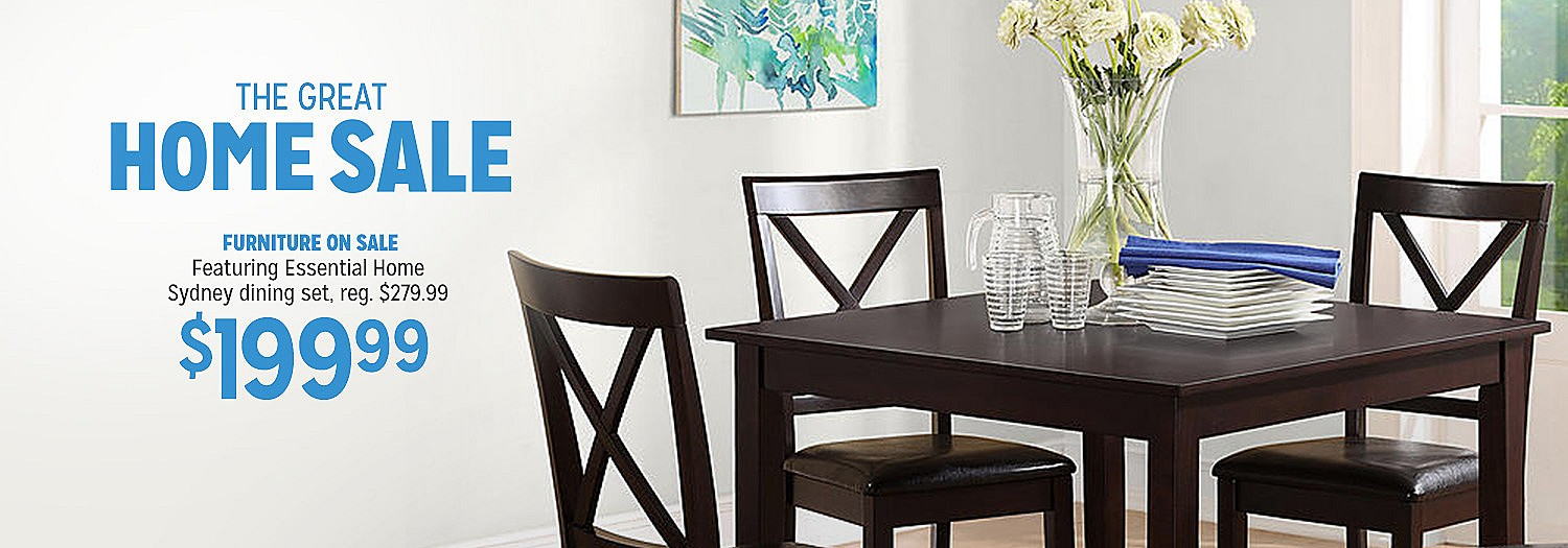 The Great All Home Sale   Essential Home Sydney dining set, $199.99