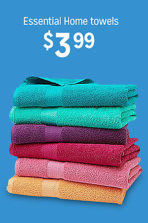 Essential Home towels, $3.99