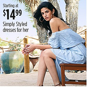 Simply Styled Dresses for Her Starting at $14.99