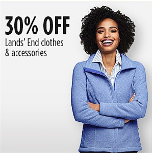 30% off Lands' End Clothing & Accessories