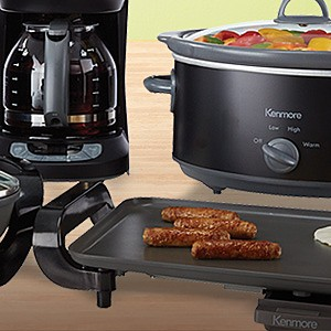 Select Kenmore Small Kitchen Applinaces on sale starting at $24.99